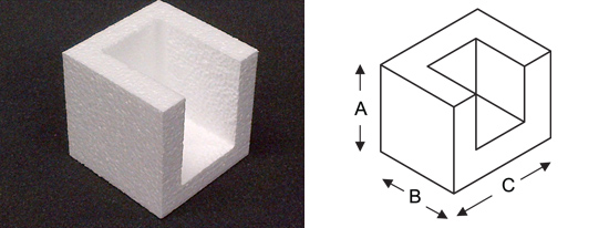 Polystyrene Closed Corner Diagram