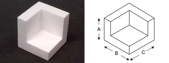 Polystyrene Open Corner Diagram